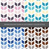 Set of Abstract Vector Seamless Pattern with four color style. Color are Pink, Green, Blue, Brown and used for backgrounds, royalty free illustration