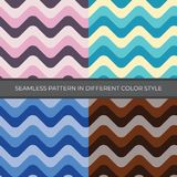 Set of Abstract Vector Seamless Pattern with four color style. vector illustration