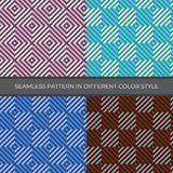 Set of Abstract Vector Seamless Pattern with four color style. royalty free stock images