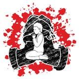 A Child praying to God ,A Little boy Prayer cartoon graphic. Vector vector illustration