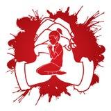 A Child praying to God ,A Little Girl Prayer cartoon graphic. Vector stock illustration