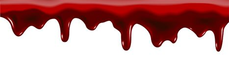 Blood or strawberry drop. On white stock illustration