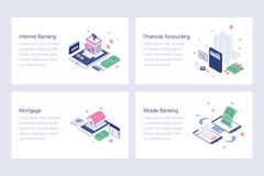 Online Banking Isometric Vector Illustrations. Online banking isometric illustrations is a pack of isometric vectors presenting banking and financial concepts in stock illustration
