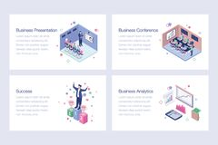 Set of Business Isometric Illustrations. Business isometric illustrations is best for your corporate design projects. Editable illustrations are best for your vector illustration