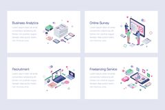 Business Isometric Vector Illustrations Set. Business isometric illustrations set is best for your corporate design projects. Editable illustrations are best for stock illustration