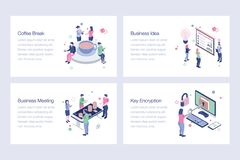 Business Isometric Vector Illustrations Collection. Business isometric illustrations collection is best for your corporate design projects. Editable vector illustration