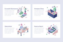Collection of Business Vector Illustrations. Business illustrations set is best for your corporate design projects. Editable illustrations are best for your vector illustration