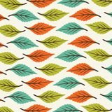 Print Abstract Leaves Pattern vector green orange color vector illustration