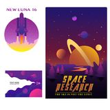 Space gradient Badges Modern art Design stock illustration