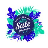 Spring Summer Sale, off up to 60 stock image