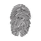 Fingerprint icon isolated on white background. Finger print flat scan. ID app icon. Fingerprint Scan stock image
