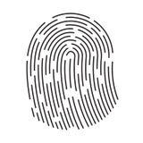Fingerprint icon isolated on white background. Finger print flat scan. ID app icon. Fingerprint Scan royalty free stock photo