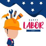 Illustration of Labor Day in the United States to Commemorate Labor Day in the United States. This illustration is intended for everyone who needs stock illustration