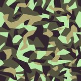 Abstract modern military camo texture style background. Geometric camouflage seamless pattern. Vector illustration stock illustration