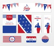 Happy independence day 4 th july, United states of america day. Layout, design,template.Vector illustration. Happy independence day 4 th july, United states of stock illustration