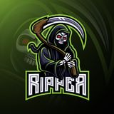 Skull ripper logo mascot design stock illustration