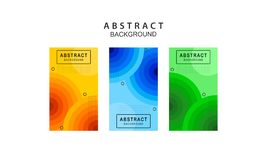 Modern Color Banners Background Vector royalty free illustration