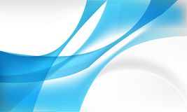 Modern abstract background with overlapping flowing shape on blue and gray colors royalty free illustration