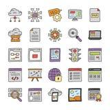 Seo and Web Development Vectors stock illustration
