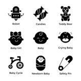Baby Icons Pack stock illustration