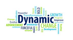 Dynamic Word Cloud. On a White Background royalty free illustration