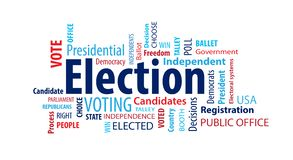 Election Word Cloud. On a White Background vector illustration