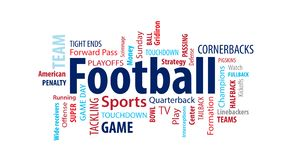 Football Word Cloud. On a White Background vector illustration