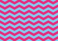 Hot Pink and Light Blue Zig Zag Pattern. Background royalty free illustration