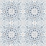 Seamless abstract light blue mandala pattern, floral background. vector illustration
