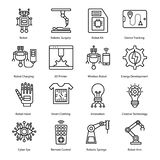 Robotic Surgery Line Icons royalty free illustration