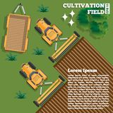 Agricultural work. View from above. Vector illustration stock illustration