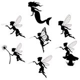 Fairy silhouette collections in white backgorund