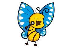 Vector Cartoon illustration Cute Butterfly