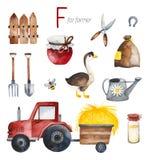Farmer for F letter.