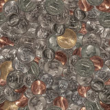 Print. Seamless pattern of US coins Stock Photo