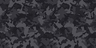 Black camouflage pattern , seamless vector background. camo, repeat print.