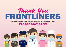 Thank you Frontliners who work during coronavirus covid-19 outbreak