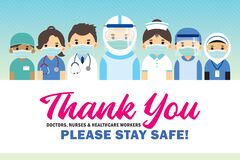 Thank You Covid-19 coronavirus frontline doctors, nurse & healthcare workers