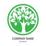 Green, tree illustration logo vector