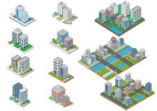 Set of Isometric Building vector.