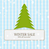 Print. Nice Winter sale tag illustration Vector Illustration