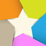 Print. Abstract origami banner background.eps10 Royalty Free Stock Photo