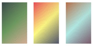Print. Abstract background. Minimalistic cover design templates. Set of layouts for covers of books, phones,albums, notebooks, reports, magazines. Line halftone stock illustration