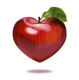 Print apple heart Stock Photography