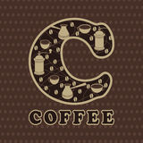Print background  Coffee Royalty Free Stock Photography
