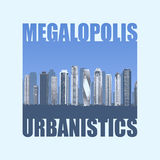 Print background  Megalopolis Stock Image