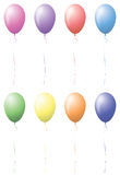 Print balloons celebration party birthday Stock Photography