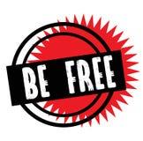 Print be free stamp on white vector illustration