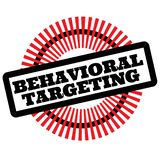 Print behavioral targeting stamp on white. Background. Labels and stickers series vector illustration