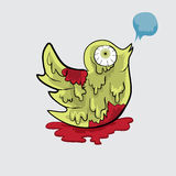 Print. Bird Twitter Zombie vector file for anything in halloween Royalty Free Stock Images